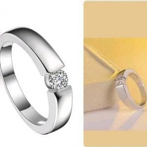 4.5mm Rose Gold/925 Silver Classical Ring